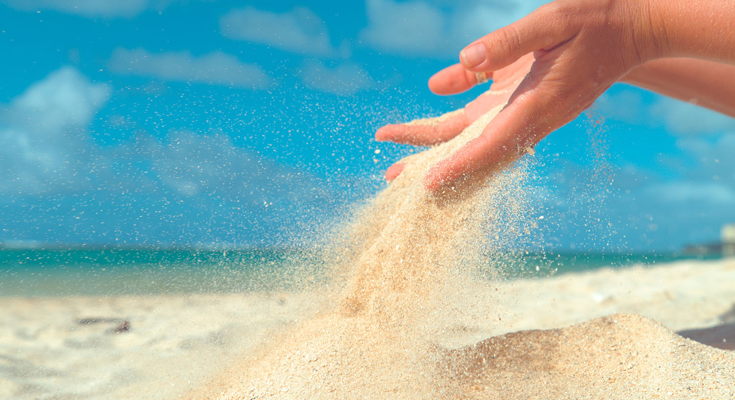 Grains of Sand through hands